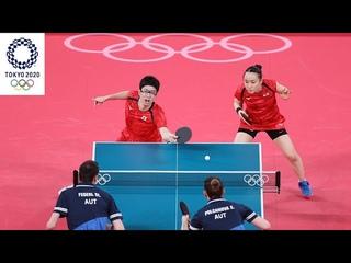 Jun Mizutani/Mima Ito vs Stefan Fegerl/Sofia Polcanova | Tokyo 2020 Olympics (XD R16)