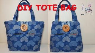DIY TOTE BAG | Bag ideas sewing | Sewing tutorial | Coudre un sac | Bolsa de bricolaje |