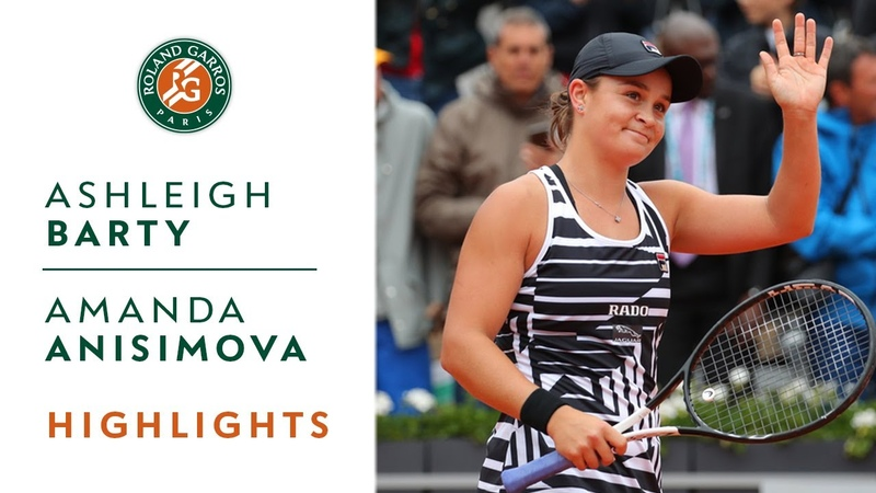 Ashleigh Barty vs Amanda Anisimova - Semi-final Highlights | Roland-Garros 2019