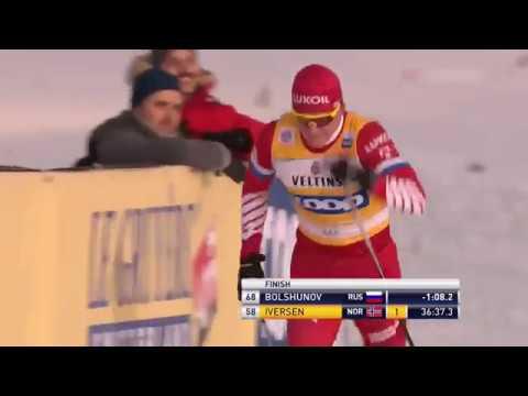 Победа Александра Большунова. Гонка 15 км классика.