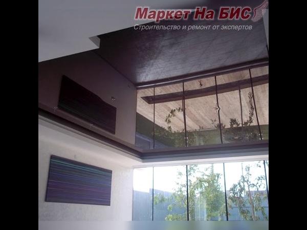 Фото потолка 1002 Холл частный дом темно коричневый глянец