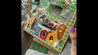 Поп-ап открытка «Джунгли» | pop up card