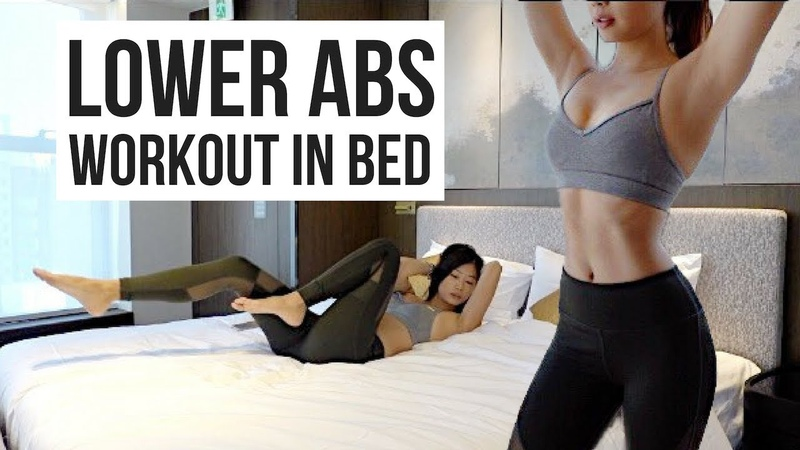BEST 10 min Lower Ab Workout IN BED to Burn Belly Fat ~ Emi