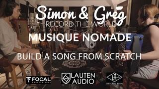 Build A Song From Scratch Using Lauten Audio, UA, Focal, 4 Strangers, 2 Countries   Simon & Greg - 1