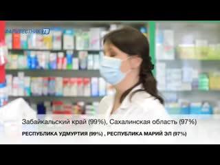Большинство регионов обеспечили высокую готовность аптек к работе с маркированными лекарствами