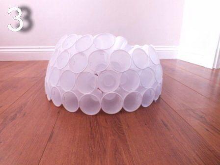 Снеговик из пластиковых стаканчиков: зимняя сказка при любой погоде Из пластиковых стаканчиков можно сделать вот такого симпатичного снеговика.Для нижнего шара делаем основание из 25