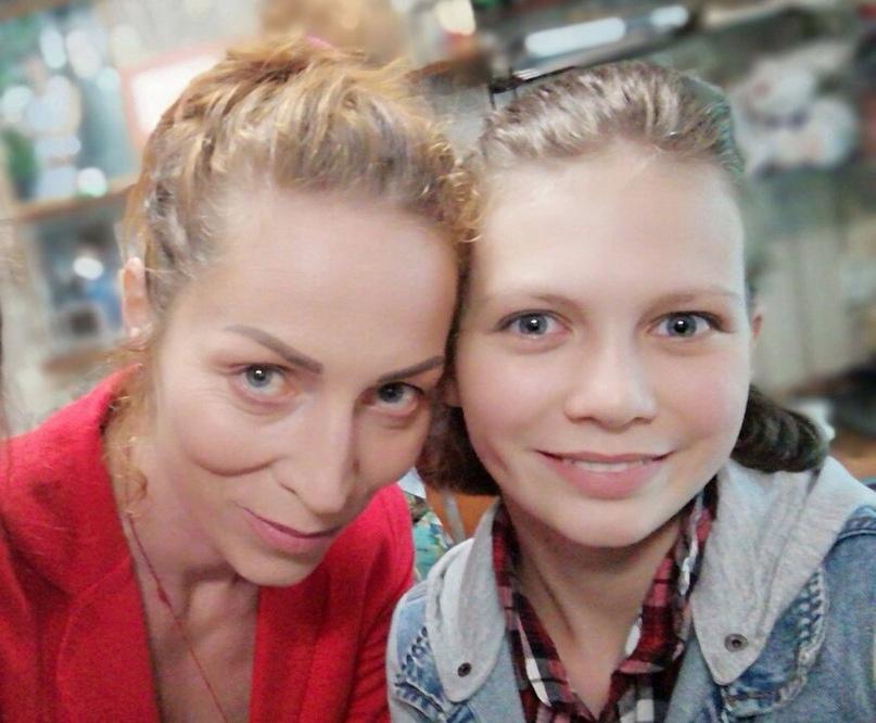 С дочкой Женей
