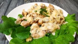 Изумительный и нежнейший Жульен с Курицей и Грибами на сковороде - Просто божественный вкус