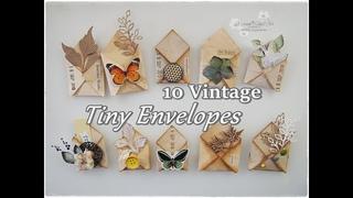 10 Ideas Tiny Vintage Envelopes Paper Embellishments DIY  Maremi's Small Art