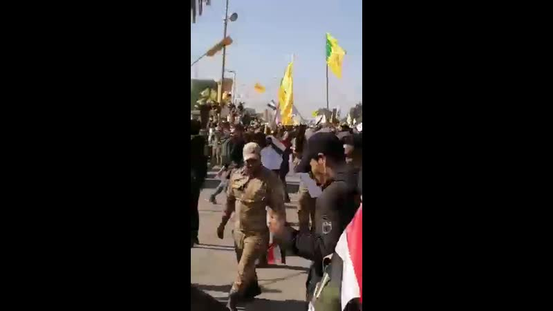 A Video shows Supporters of PMF throwing Rocks on Observation posts of the American Embassy