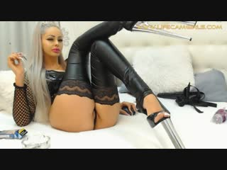 Fetish goddess joi femdom and smoking fetish. webcam solo blonde.