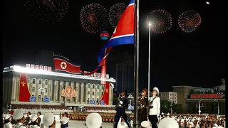 [NO COMMENTARY] 2020 조선로동당창건 75돐 경축대회 및 군중시위 - DPRK Military Parade Marks Anniversary of WPK