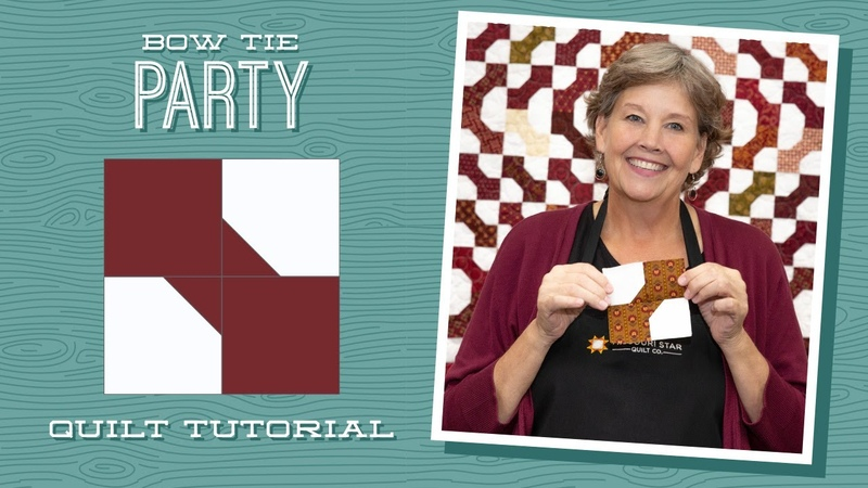 Make a Bow Tie Party Quilt with Jenny Doan of Missouri Star Video Tutorial