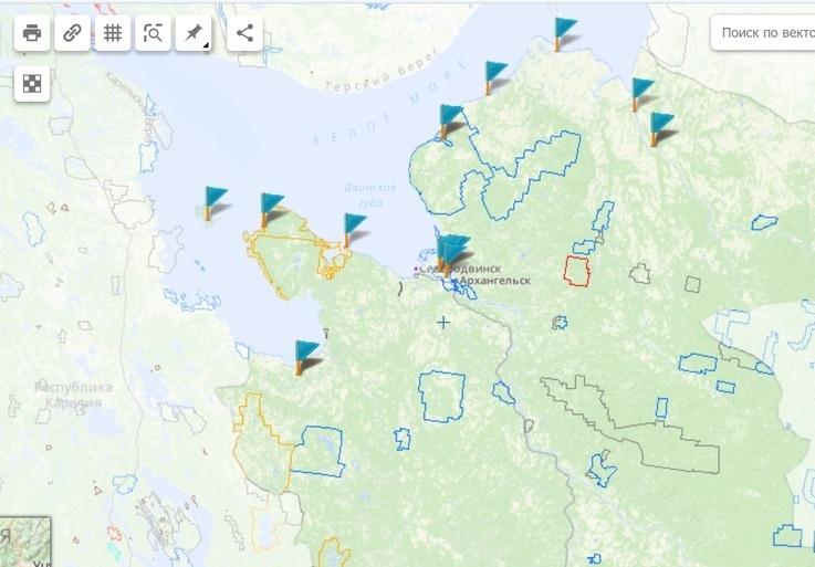 Инсинераторы и границы особо охраняемых природных территорий Архангельской области