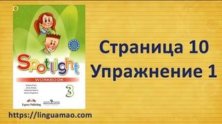 Spotlight 3 класс Workbook страница 10 номер 1 ГДЗ решебник