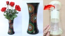 How to make flower vase from plastic cup and Plaster