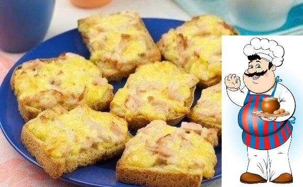 Горячие бутерброды с ветчиной и сыром Ингредиенты: 100 г ветчина 1 ст. л. майонез 1 щепотка перец чёрный молотый 100 г сыр твёрдый 0.5 шт. хлеб для тостов 1 шт. яйца куриные Шаг 1 Для
