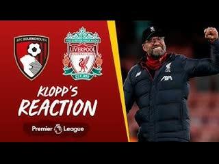 Klopp's reaction lovren injury, salah & a clean sheet | bournemouth vs liverpool