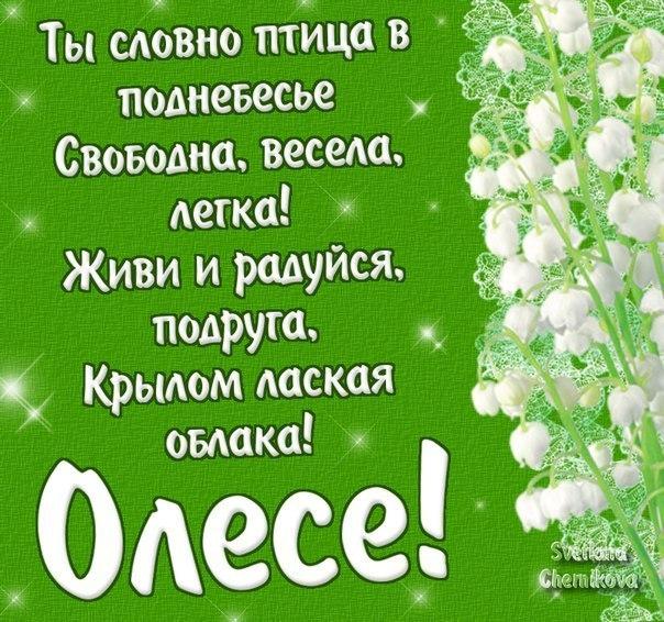 8 марта поздравления олеся женская