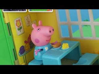 Свинка пеппа и домик на дереве. обзор игрушки на русском языке. peppa pig tree house.