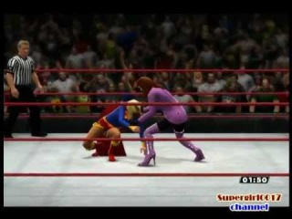 WWE 2013. Supergirl vs Alexis Luthor