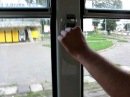 Kasowanie biletu w tramwaju we Lwowie Ukraina