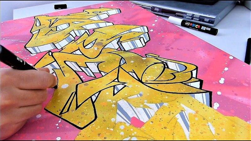 Graffiti Canvas Graff sur toile Posca and Spraypaint HD