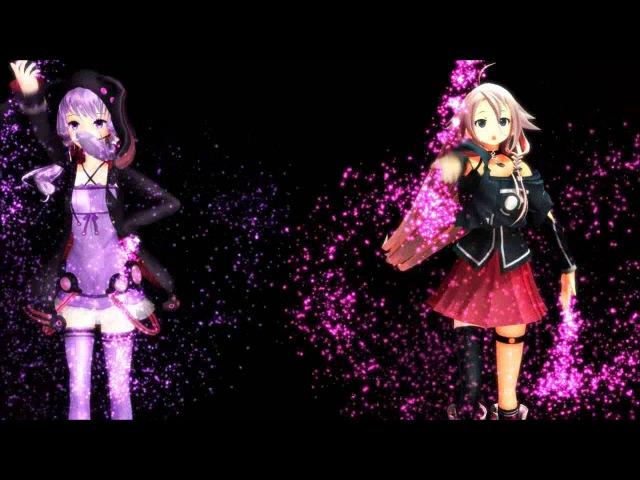 IA x Yuzuki Yukari 「H A P P Y S Y N T H E S I Z E R」 VOCALOID3カバー X MMD