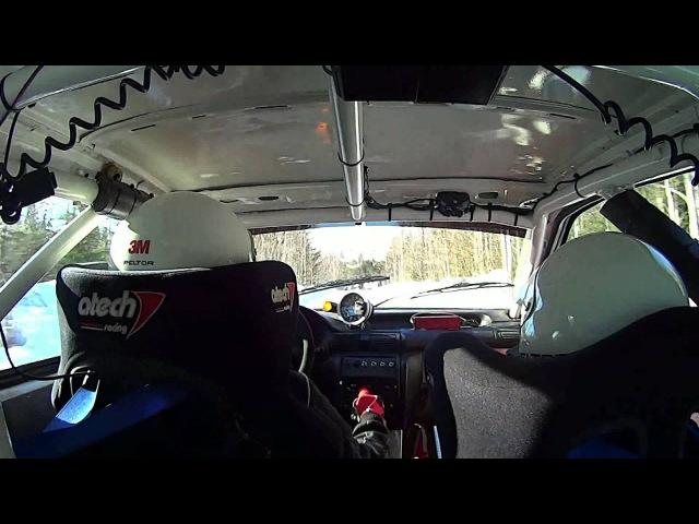 Jari Huttunen Runnirock ralli 2015 EK1 CRASH