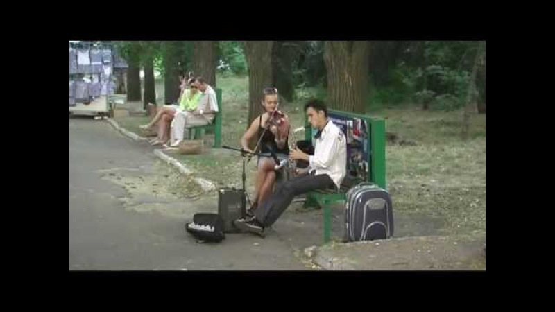 Дуэт Скрипачка и саксофонист, г. Одесса - 2011 год