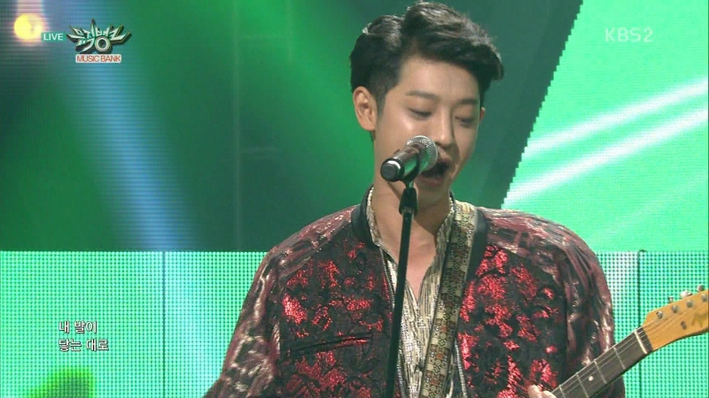 12 06 15 KBS2 Music Bank E790 Jung JoonYoung Band GoodBye Stage