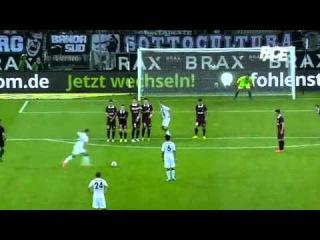 THORGAN HAZARD FANTASTIC FREEKICK GOAL   Borussia Mönchengladbach 7:0 FK Sarajevo ()