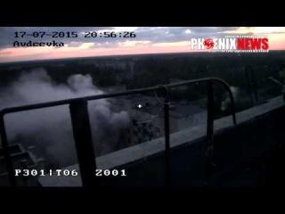 Тяжёлый обстрел жилого сектора  Авдеевки попал на камеру видео наблюдения
