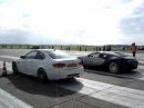Bugatti Veyron vs. BMW M3 E92 on a Dutch airstrip [the other angle]
