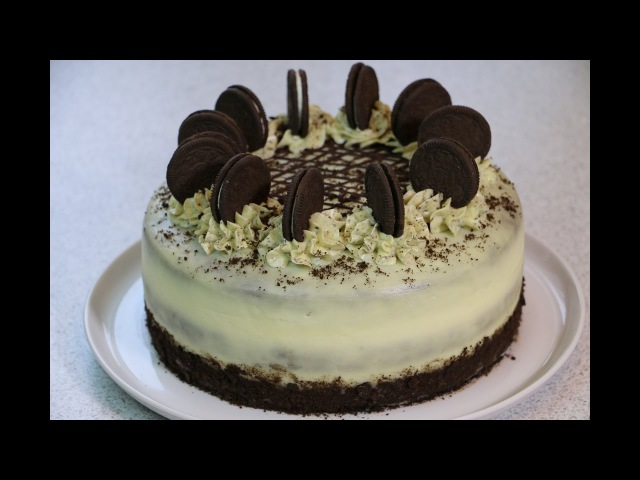 Торт Орео по мотивам известного печенья ✧ Oreo Cake Recipe English Subtitles