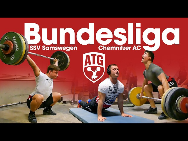 Bundesliga Weightlifting Full Session with Max Lang Lukasz Grela SSV Samswegen vs Chemnitzer AC