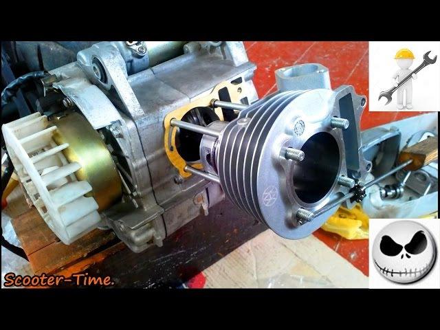 Ремонт скутера Fada Viper 150 Сборка Двигателя 157QMJ Ч 3 2