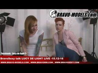 BravoSexy talk Lucy De Light LIVE  host eroticka modelka Foxy Sanie 15 12 2016