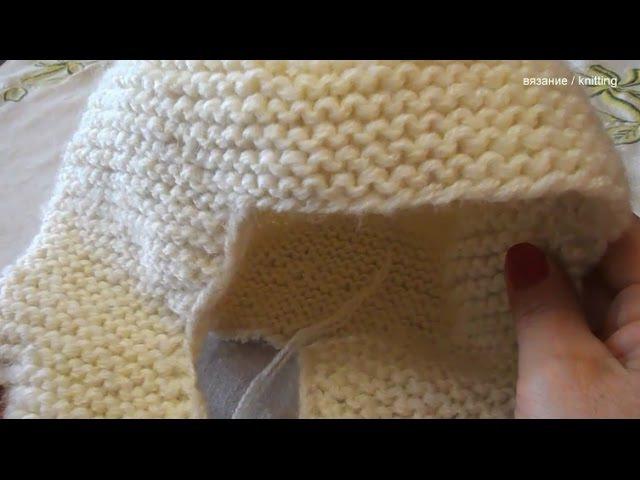 Шапка ушанка спицами Платочное вязание Выпуск 1 Hat with ear flaps Issue 1
