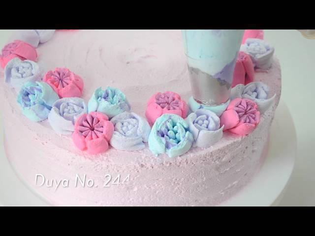 Duyas Rusas: decora un pastel en 5 minutos (boquillas rusas) | El arte de hacer arte