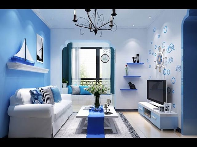 ГОЛУБОЙ ЦВЕТ в Интерьере - 2018 BLUE color in the interior BLUE Farbe im Innenraum