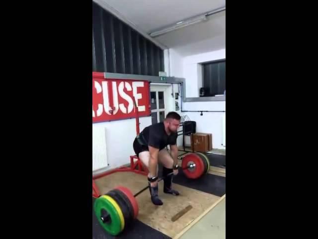 Матияш Белшак (Словения), становая тяга - raw - 320 кг на 9 раз !