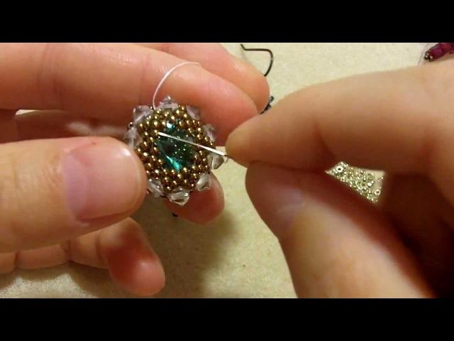 Sidonia's handmade jewelry 14mm Swarovski rivoli bezel video response