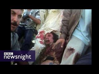 New footage of Gaddafi's capture - BBC Newsnight