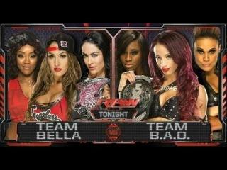 WWE 2K16 Team Bella vs Team  (Elimination Tag Team Match)