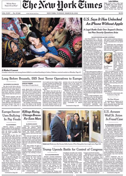 The New York Times  March 29 2016