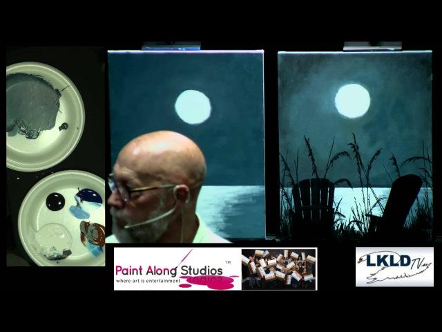 Paint Along Studios David Dec 6th 2014 Moon Over Melborne