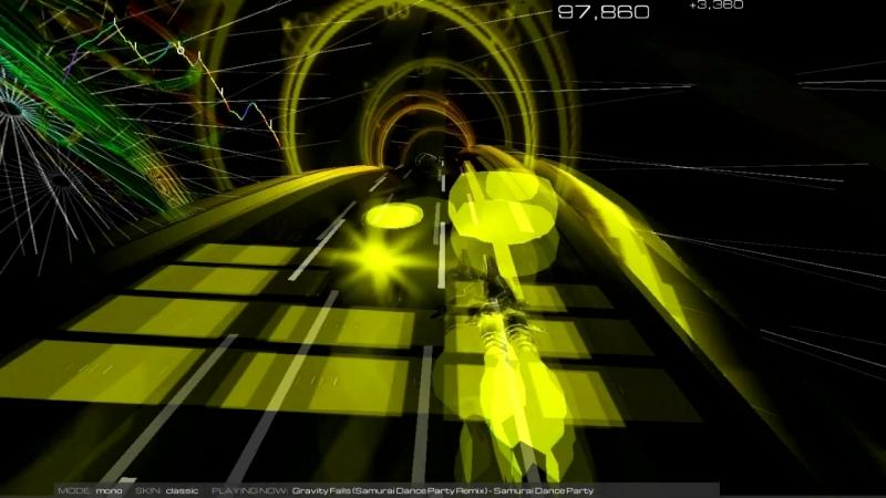 AudioSurf 2 (Samurai Dance Party – Gravity Falls (Remix))