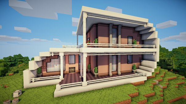 Как построить красивый умный дом в майнкрафт
