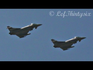 HD Two Eurofighter EF-2000 Typhoon Italian Air Force pass at Brindisi Airport